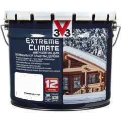 Антисептик V33 Extreme Climate экстремальная защита древесины матовый жемчужно-белый 9 л