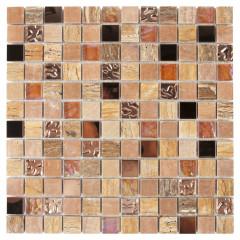 Мозаика Artens Fusion бежево-золотистая 300х300х8 мм 0.09 м2