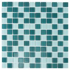 Мозаика Artens Shaker зелено-голубая 300х300х4 мм 0.09 м2