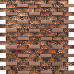 Мозаика Artens оранжевая 300х300х8 мм 0.09 м2