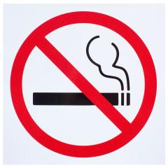 Наклейка Перкон не курить 20х20 см