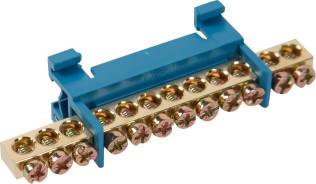 Шина нулевая IEK на DIN-изоляции стойка ШНИ-6х9-12-С-С