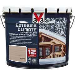 Антисептик V33 Extreme Climate экстремальная защита древесины матовый серебро 9 л