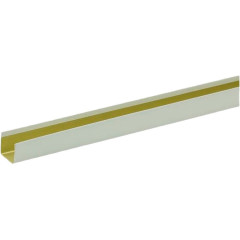 П-профиль алюминиевый Cesal белый матовый 14х14х3000 мм