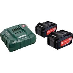 НабораккумуляторMetabo18В2000мАч,2шт.сзаряднымустройствомMetaboASC30-36В 685050000