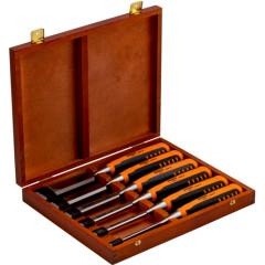 Набор стамесок Bahco с прорезиненной ручкой 6-32 мм, 6 шт.