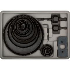 Пилы круговые FIT 36763 19-127 мм набор в кейсе, 12 шт.