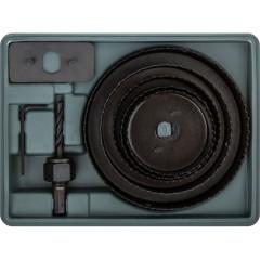 Пилы круговые FIT 67-127 мм набор в кейсе, 5 шт.