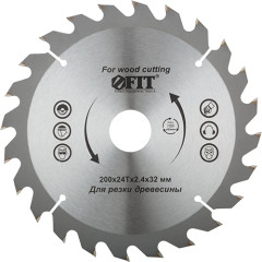 Диск пильный Fit по дереву 200x32x2.4 мм 24 зуба