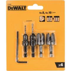 Набор резаков Dewalt для пробок и сверл с зенкерами, 4 шт.