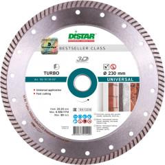 Диск алмазный Distar Turbo Bestseller Universal турбо 230x22.23x2.6 мм