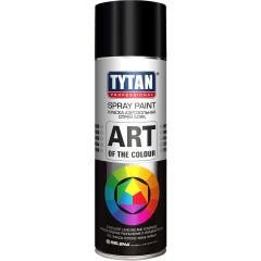 Краска акриловая Tytan Professionaln Art Of The Colour 9004 аэрозольная черный матовый 400 мл