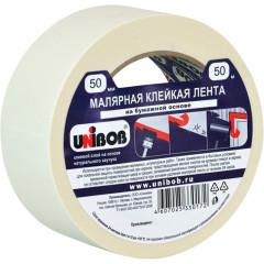 Лента малярная Unibob для строительства 50 мм х 50 м