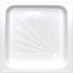Душевой поддон Antika APS-80101 квадратный стальной 80х80х15 см белый