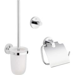 Набор аксессуаров для ванной Grohe Essentials стекло/металл хромированное покрытие