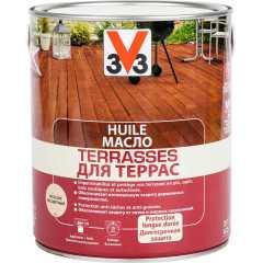 Масло для террас V33 Terrasses матовый бесцветный 2.5 л