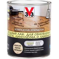 Лак для пола V33 Renovation полуглянцевый бесцветный 0.75 л