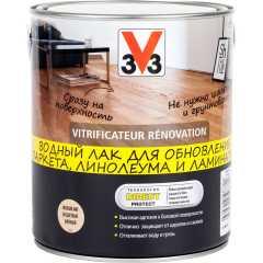 Лак для пола V33 Renovation матовый бесцветный 2.5 л