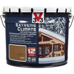 Антисептик V33 Extreme Climate экстремальная защита древесины полуглянцевый каштан 9 л