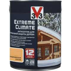Антисептик V33 Extreme Climate экстремальная защита древесины полуглянцевый скандинавская сосна 2.5 л