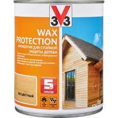 Антисептик V33 Wax Protection с добавлением воска полуглянцевый бесцветный 0.9 л