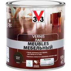 Лак для мебели V33 Meubles глянцевый венге 0.5 л