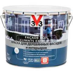 Краска для деревянных фасадов и интерьеров V33 База А 9 л