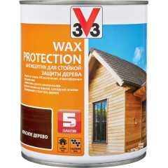 Антисептик V33 Wax Protection с добавлением воска полуглянцевый красное дерево 0.9 л