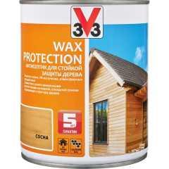 Антисептик V33 Wax Protection с добавлением воска полуглянцевый сосна 0.9 л