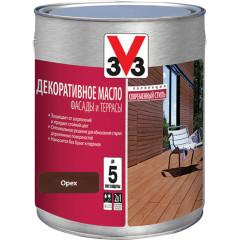 Декоративное масло для террас и фасадов V33 орех 2.5 л