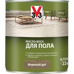 Масло-воск V33 для пола коричневый 0.75 л