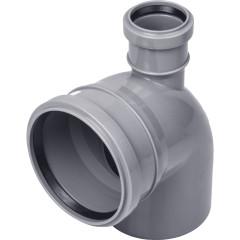 Отвод полипропиленовый Polytron d 110 мм х 90 градусов выход 50 прямой