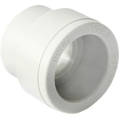 Муфта полипропиленовая Pro Aqua переходная PP-R В-В белая 50-20 мм