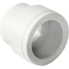 Муфта полипропиленовая Pro Aqua переходная PP-R В-В белая 63-25 мм