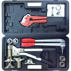 Универсальный комплект инструмента для труб Stout PEXcase аксиальный 16-32 мм