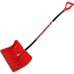 Лопата пластмассовая Пингвин снегоуборочная красная 340x490 мм