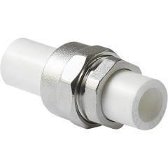 """Разъемное соединение полипропиленовое Pro Aqua комбинированное PP-R ВР белое 20 мм x 3/4"""""""