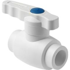 Кран шаровой полипропиленовый Pro Aqua Ultra полнопроходной PP-R белый 20 мм