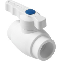 Кран шаровой полипропиленовый Pro Aqua Prime полнопроходной PP-R белый 20 мм