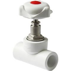 Вентиль полипропиленовый Pro Aqua PP-R белый 25 мм