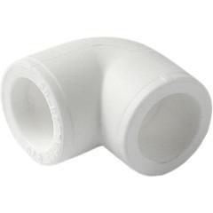 Угольник полипропиленовый Pro Aqua 90 градусов PP-R белый 50 мм
