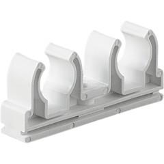 Опора полипропиленовая Pro Aqua двойная PP-R белая 20 мм