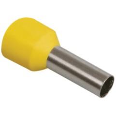 Наконечник-гильза IEK Е1008 1 мм2 медный с изолированным фланцем желтый, 100 шт.