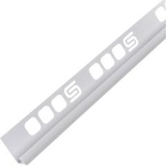 Раскладка для плитки внутренняя Salag ПВХ белая 8 мм 2.5 м
