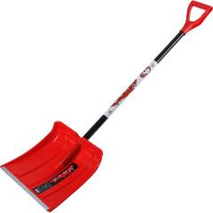 Лопата пластмассовая Умка снегоуборочная красная 370x380 мм