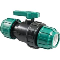 Кран шаровой разъемный ТПК-Аква ПНД цанга 32x32 мм