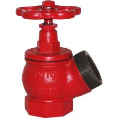 Вентиль пожарный Промаэротехника КПК 50 чугунный угловой муфта-цапка