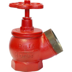 Вентиль пожарный Промаэротехника КПК 65 чугунный угловой муфта-цапка