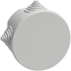 Коробка распаячная для открытой проводки IEK КМ41237 IP44 RAL7035 4 гермоввода 75х40 мм