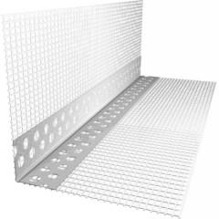 Профиль угловой ПВХ с армирующей сеткой FasadPro 10x15 2.5 м